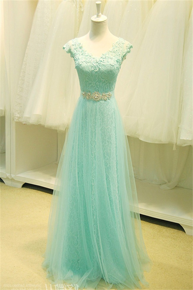 Lace Mint Bridesmaid Dress Wedding Gallery