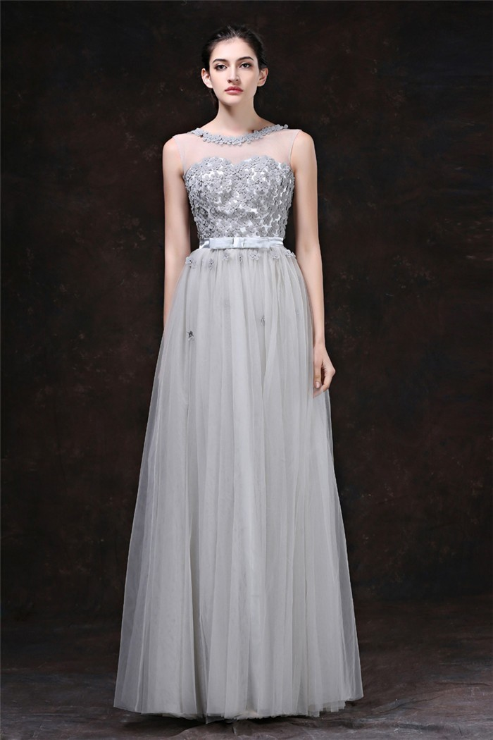 Silver Evening Gown