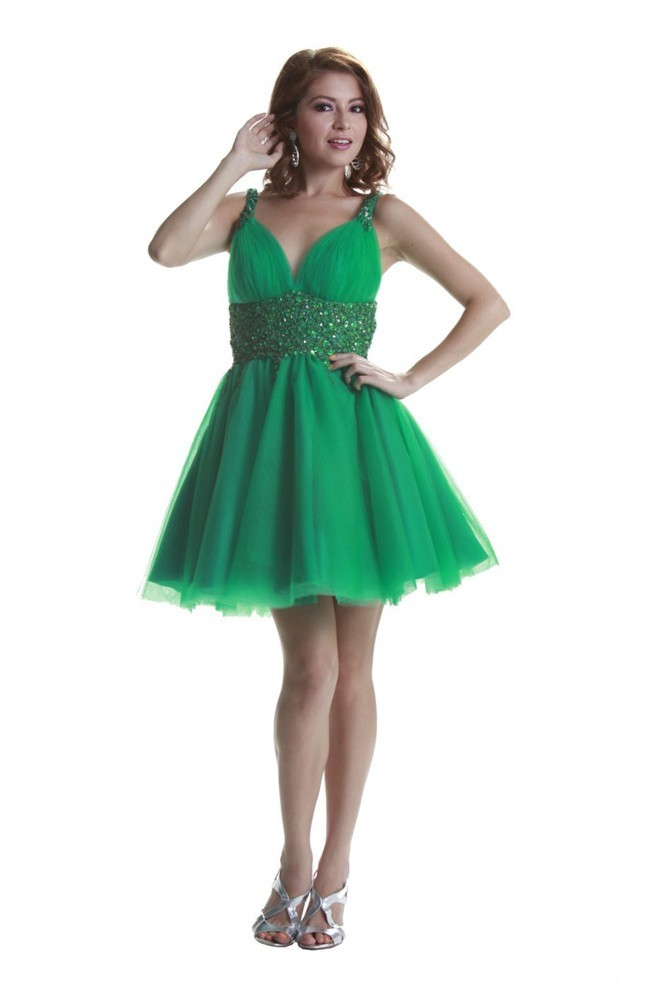 ball sweetheart backless short emerald green tulle prom