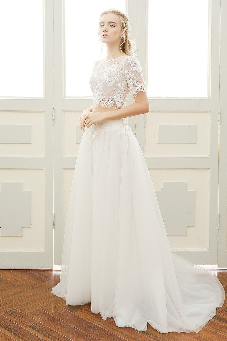 Two Piece Wedding Dress Choice Image Wedding Dress