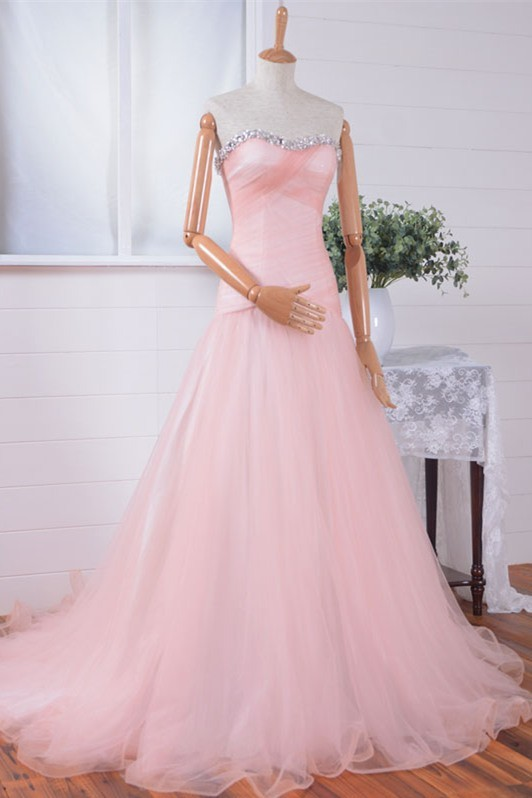 light pink fitted prom dress – Fashion dresses