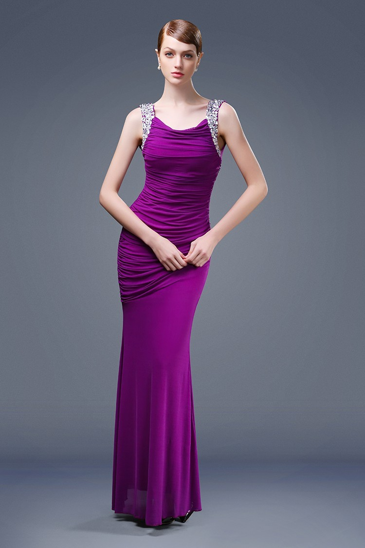 Ruched Evening Dress