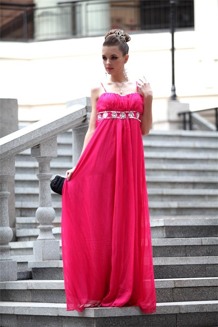 Empire Sweetheart Prom Dress with Straps