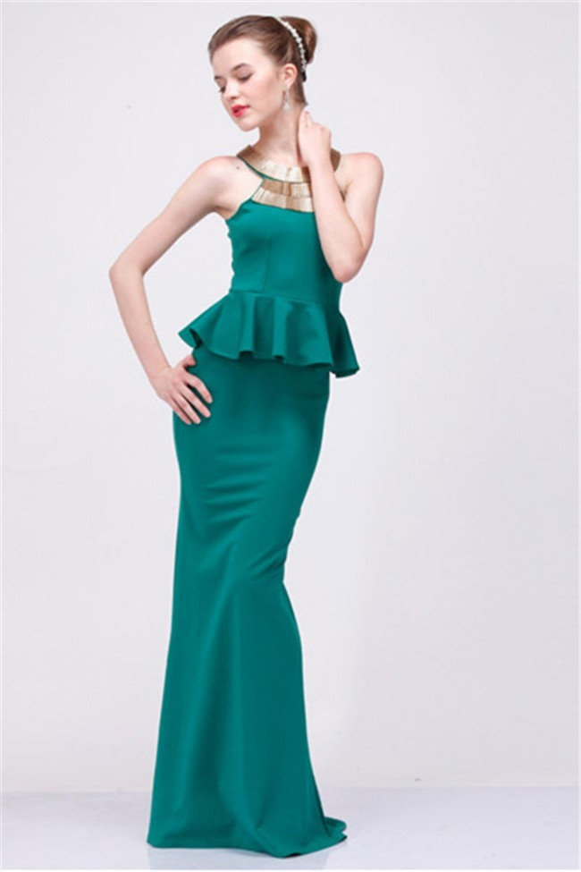 Teal Evening Dress