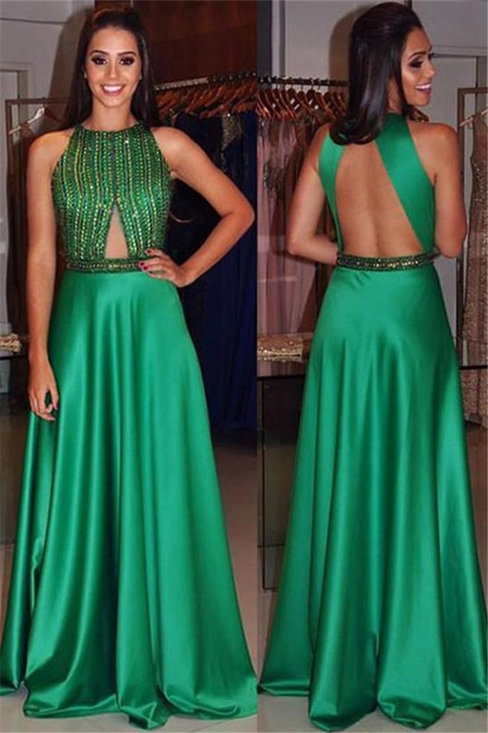 Cut Out Prom Dress