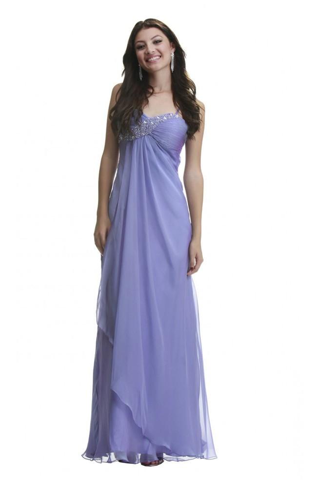 Long Lavender Dress