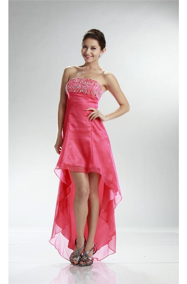 Watermelon Chiffon Prom Dress