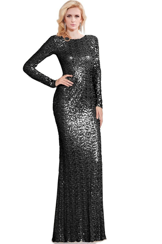 Sequin Dress with Sleeves