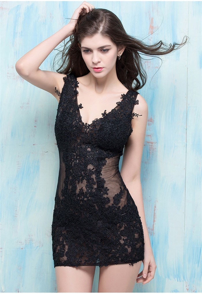 Sexy black lace party dresses apologise