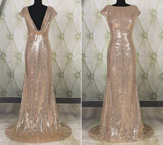 Sparkly Champagne Dresses