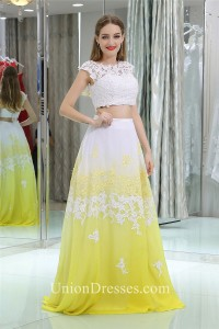 358e5a4d971 ... Chiffon Two Piece Prom Dress lightbox moreview · lightbox moreview