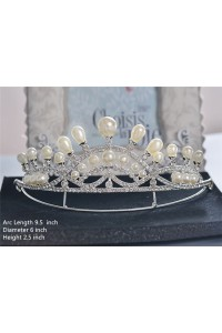 Gorgeous Wedding Bridal Tiara Crown With Pearls