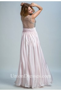 404a6421ee52 ... Neck Sheer Back Sleeveless Light Pink Chiffon Beaded Prom Dress  lightbox moreview · lightbox moreview · lightbox moreview · lightbox  moreview · lightbox ...