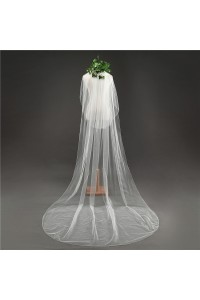 Two tier Ivory Tulle Wedding Bridal Cathedral Veil With Comb