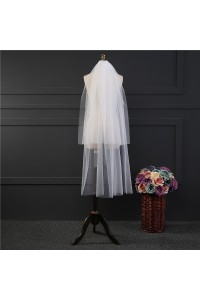 Two tier Knee Length Tulle Wedding Bridal Veil