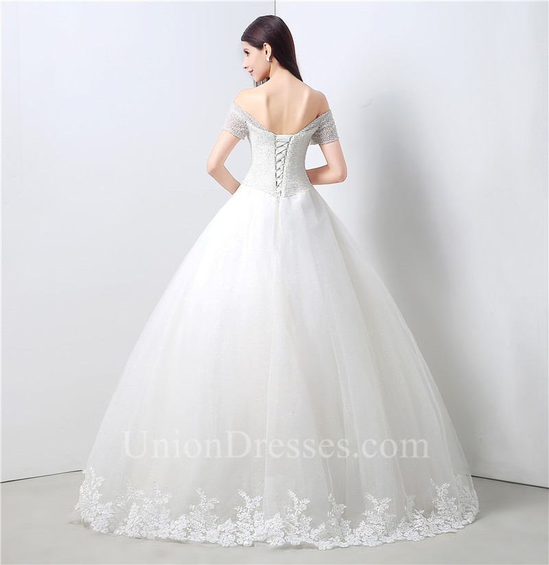 ... Corset Back Tulle Lace Wedding Dress Lightbox Moreview