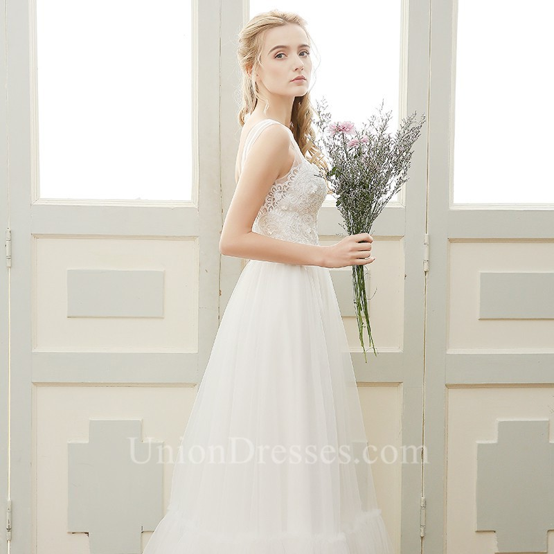 645eb9f5af ... Low V Back Sleeveless Lace Tulle Outdoor Boho Wedding Dress lightbox  moreview · lightbox moreview · lightbox moreview · lightbox moreview ·  lightbox ...