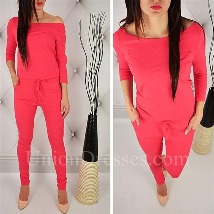 cbd0ad748d46 Casual Off The Shoulder Cut Out Sleeve Rompers Women Jumpsuit