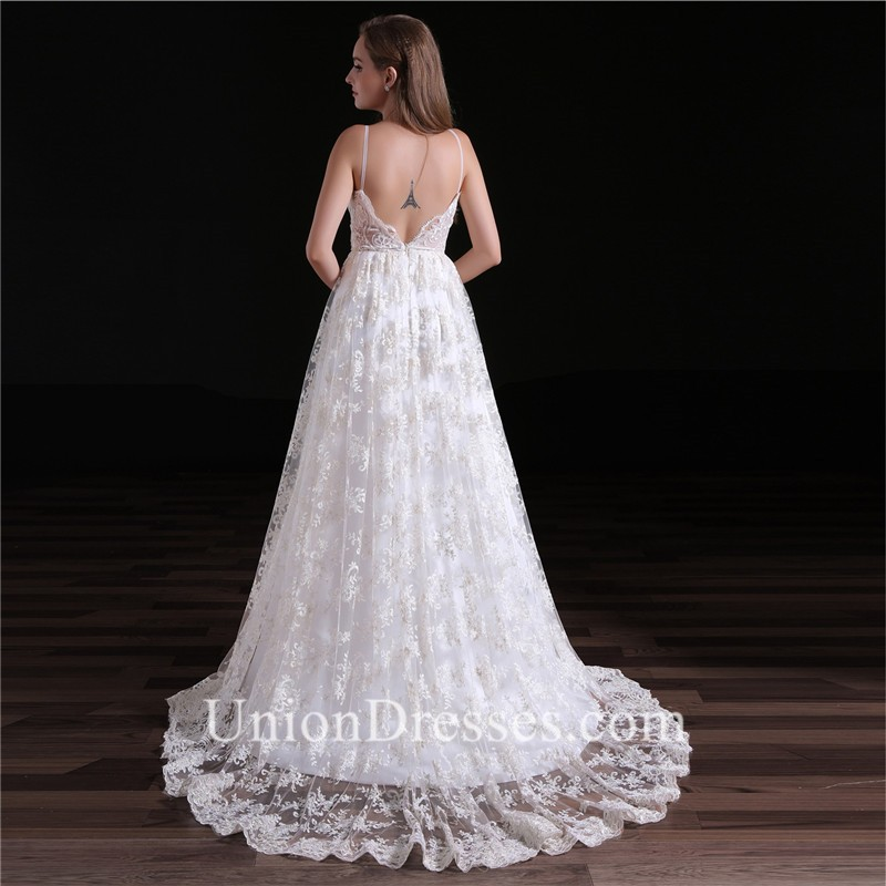 a0b81bd362bb Elegant A Line Sweetheart Low Back Spaghetti Straps Lace Wedding Dress  lightbox moreview · lightbox moreview · lightbox moreview