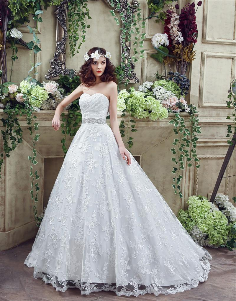 fairy tale ball gown sweetheart lace corset wedding dress