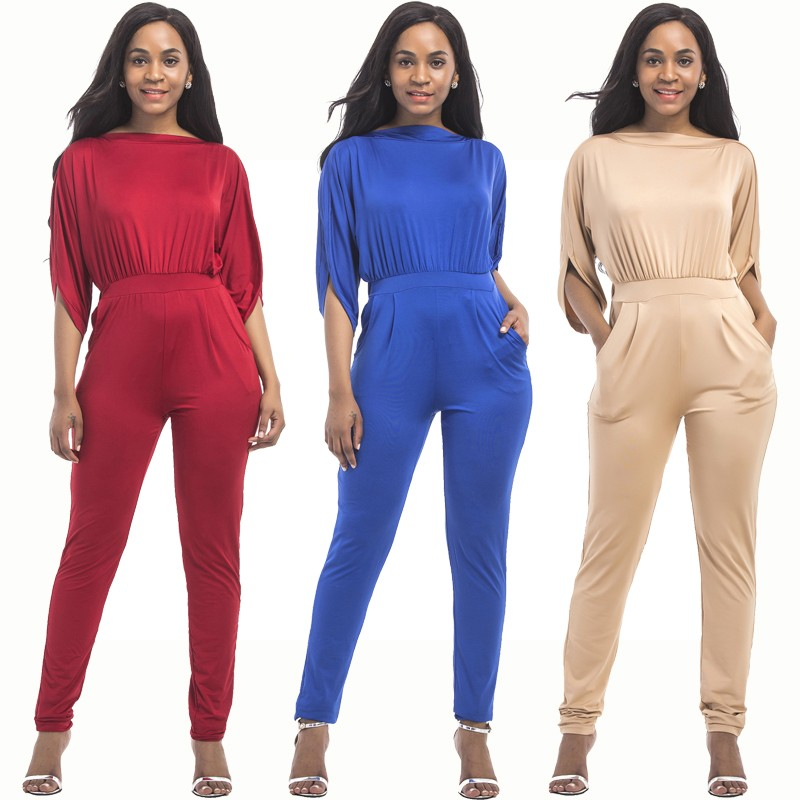 b1abd3984675 Fashion Spring Fall Red Jersey Casual Women Jumpsuit With Sleeves lightbox  moreview · lightbox moreview · lightbox moreview · lightbox moreview ·  lightbox ...