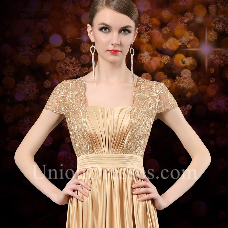 db88acc17591 ... Long Gold Satin Lace Mother Of The Bride Evening Dress lightbox  moreview · lightbox moreview · lightbox moreview · lightbox moreview ·  lightbox moreview