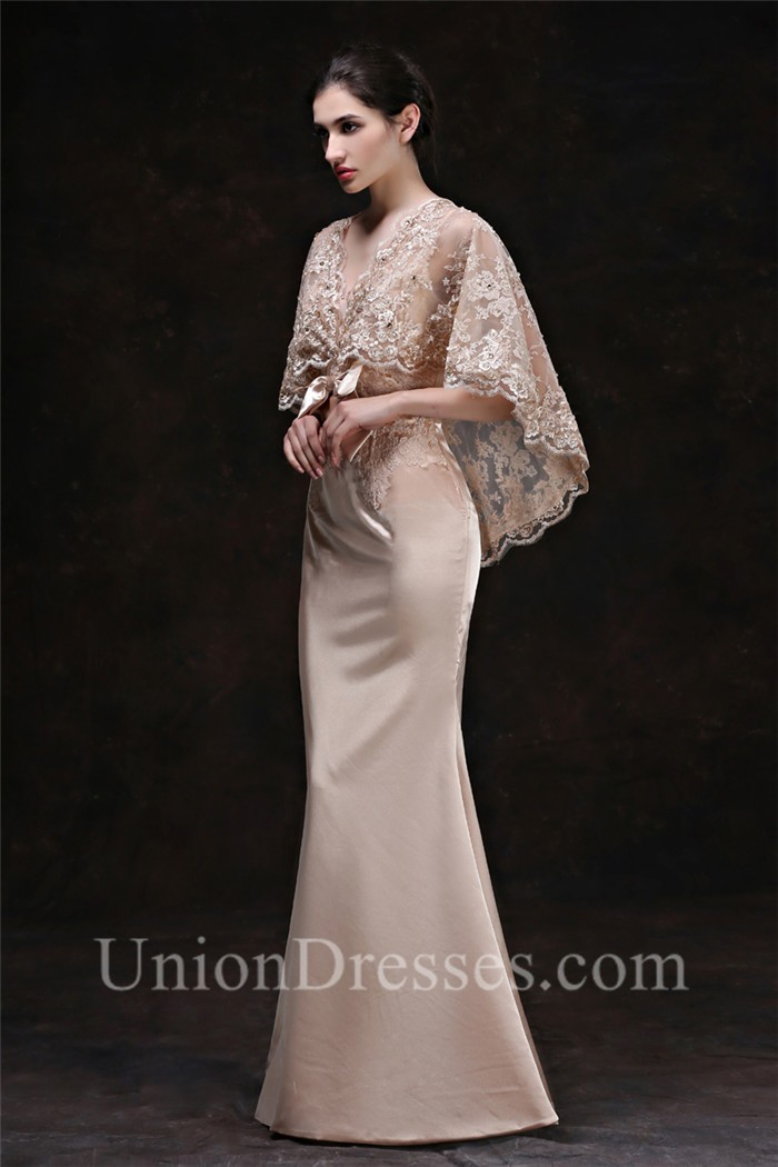 Satin Shawls for Evening Gowns