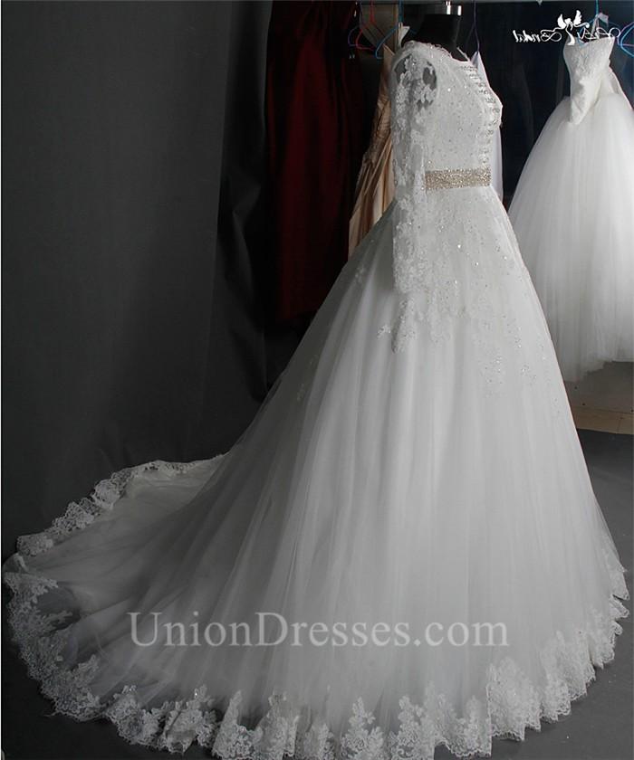 Crystal Beaded Wedding Dress Fashion Dresses