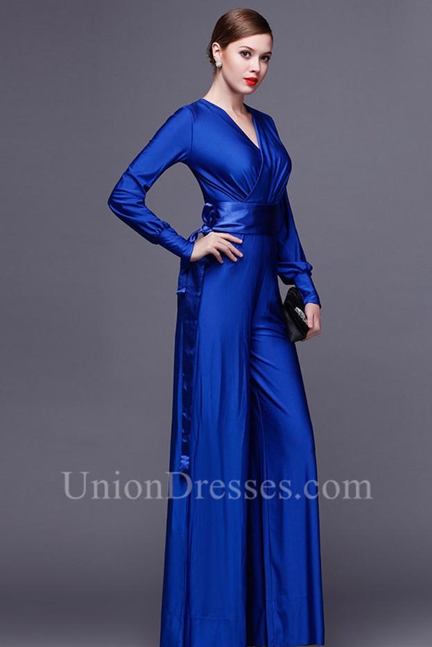 Blue Formal Jumpsuit Breeze Clothing