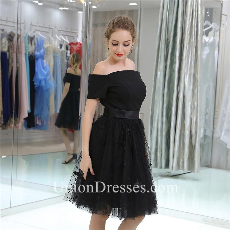 d6c309d815af Princess Off The Shoulder Short Black Tulle Prom Dress With Sash lightbox  moreview · lightbox moreview · lightbox moreview · lightbox moreview ·  lightbox ...