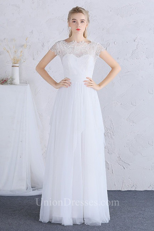 840f708a327 ... Cap Sleeve Lace Tulle Outdoor Destination Wedding Dress lightbox  moreview · lightbox moreview · lightbox moreview · lightbox moreview
