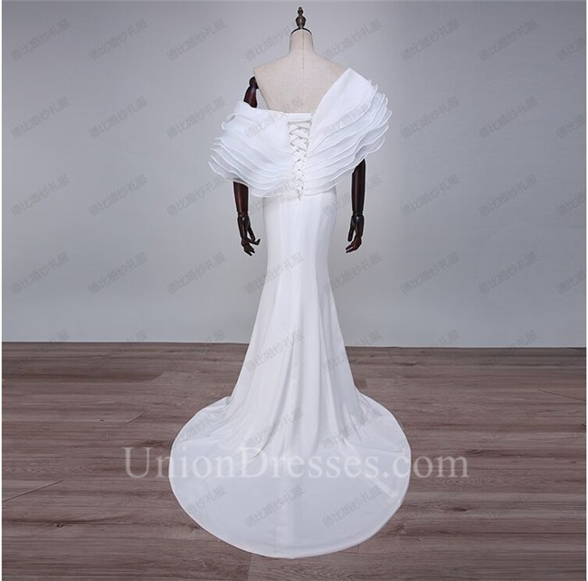 861ee254f4fe Unique Sexy White Organza Ruffle Layered Special Occasion Prom Dress  lightbox moreview · lightbox moreview · lightbox moreview