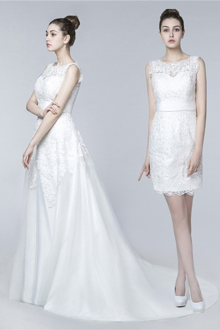 two in one wedding dress