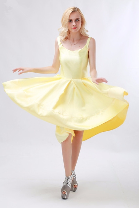 light yellow daffodil party prom dress