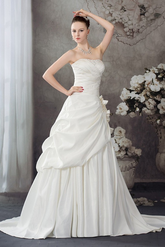 Trumpet Gown With Multi Directional D Bodice Of Silk Satin Chiffon And Skirt Kalika