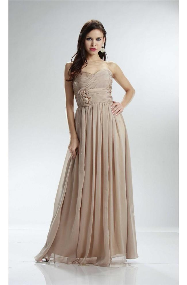 Champagne Bridesmaid Dresses Empire Waist