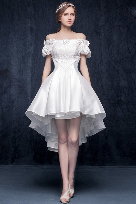 Garden Beach Taffeta Wedding Dress
