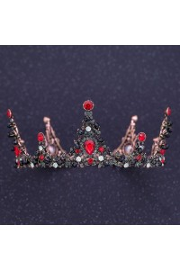 Royal Alloy Ruby Red Crystal Wedding Bridal Tiara Crown