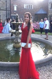 Beautiful Mermaid Prom Party Dress V Neck Sleeveless Red Lace Tulle