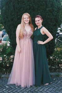 Boho See Through Prom Party Dress Pink Tulle V Neck Sleeveless With Beading