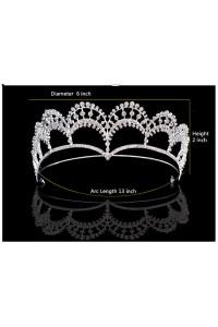 Beautiful Alloy Rhinestone Wedding Bridal Tiara Crown