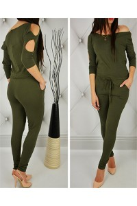 Casual Off The Shoulder Cut Out Sleeve Rompers Women Jumpsuit