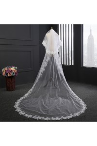 Classy Two tier Tulle Lace Wedding Bridal Cathedral Veil