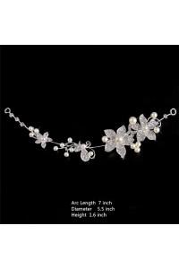 Elegant Wedding Bridal Headpiece With Pearls