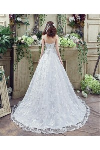 Fairy Tale Ball Gown Sweetheart Lace Wedding Dress Corset Back