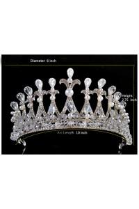 Gorgeous Pearl Rhinestone Wedding Bridal Tiara Crown