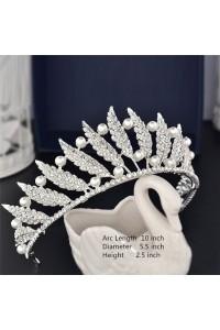 Gorgeous Rhinestone Pearl Wedding Bridal Tiara Crown Headpieces