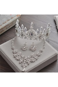 Gorgeous Wedding Bridal Tiara Crown And Jewelry Sets