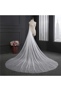 Princess One tier Tulle Wedding Bridal Cathedral Veil With Comb