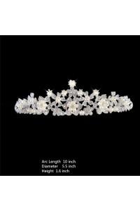 Shinning Wedding Bridal Tiara Crown With Pearls